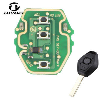 Rechargeable Remote Circuit Board 315/433MHz for BMW 3 5 X series 7S E38 E39 E46 3 Buttons Key Fob With CR2032 Battery image