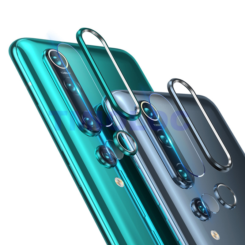 For <font><b>Xiaomi</b></font> Mi 9 SE 10 Pro <font><b>Camera</b></font> Lens Screen <font><b>Protector</b></font> Glass + Metal Lens Ring Case for Redmi Note 7 Pro <font><b>Mi9</b></font> SE Mi 9se Blue image