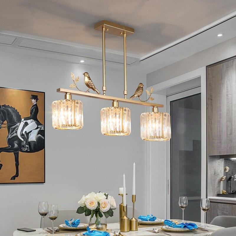 TRAZOS Modern chandelier Sputnik lamps semi-embedded ceiling lamp brushed antique gold lighting crystal Nordic home decoration