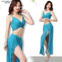 Belly Dance Costume New Women Practice Suit Bra+Long Skirt High Split Oriental Dance Sexy BellyDancing Dress Performance Clothes