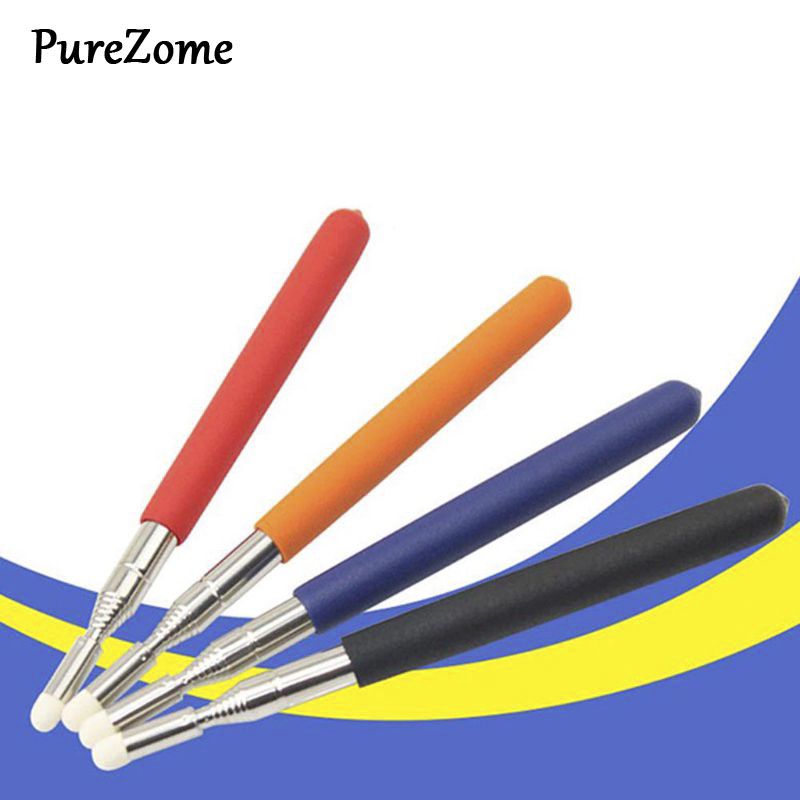 1pc Professional Touch Whiteboard Pen High Quality Felt Head 1 Meter Stainless Steel Telescopic Teacher Pointer Random Color