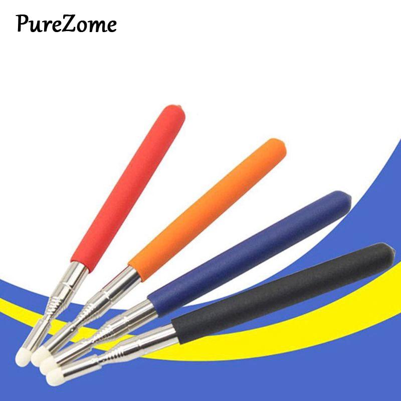 1pc Professional Touch Whiteboard Pen High Quality Felt Head 1 Meter Stainless Steel Telescopic Teacher Pointer Random Color