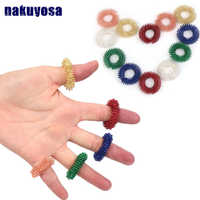5PC Spiky Sensory Finger Acupressure Ring Fidget Toy For Kids Adults Silent Stress Relief Massager Helps With Focus ADHD Autism