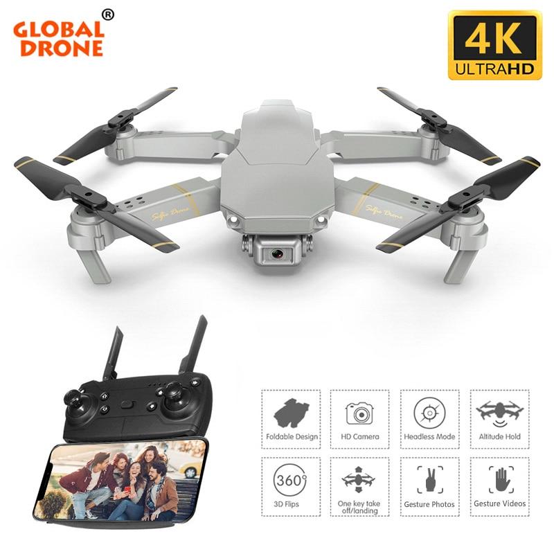 Global Drone EXA 4K Camera Quadrocopter Dron RC Helicopter Foldable FPV Quadcopter Mini Drones with Camera HD 1080P VS E58 E520