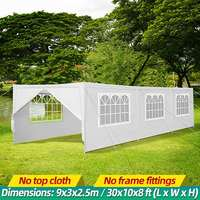 30x10FT Portable Upgrade Outdoor Gazebo Canopy Party Wedding Waterproof Tent Garden Patio Gazebo Pavilion Cater Events Walls