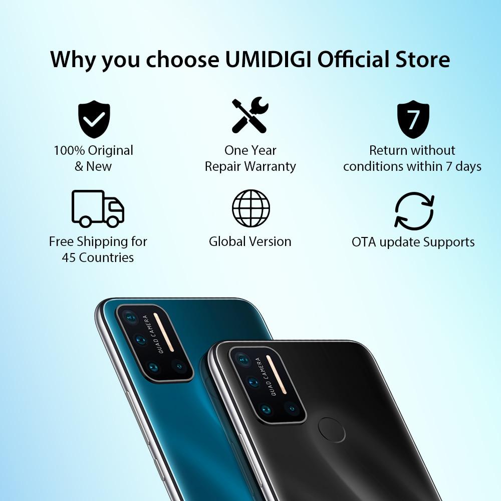 UMIDIGI Helio P23 Mt6763t 128GB 4gbb LTE/GSM/WCDMA/CDMA 5g wi-Fi Octa Core Fingerprint Recognition/face Recognition