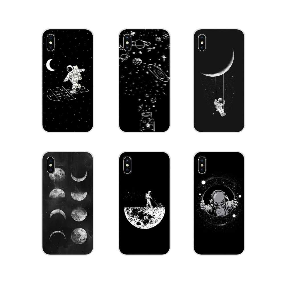 Accessories Phone Cases Covers space moon astronaut For Xiaomi Mi4 Mi5 Mi5S Mi6 Mi A1 A2 5X 6X 8 9 Lite SE Pro Mi Max Mix 2 3 2S