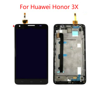 For Huawei Honor 3X G750 LCD Display Touch Screen Digitizer Assembly With Bezel Frame Free Tools brand new lcd for huawei enjoy 6s lcd display with touch screen digitizer assembly free shipping with tools 1pcs