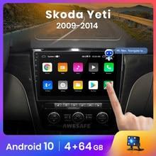 Автомагнитола AWESAFE PX9 для SKODA Yeti 5L, мультимедийный видеоплеер на Android 2009, 2 Гб ОЗУ, 32 Гб ПЗУ, с GPS, типоразмер 2 din, 2014-10,0