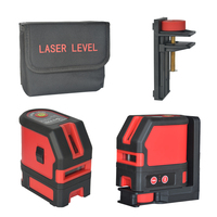 TECLASER Laser Level 2 Lines Self Leveing Cross Line Laser for Home DIY Indoors Tiling Magnetic Bracket Horizontal and Vertical