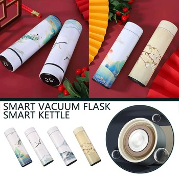 #40 Smart Water Bottle Stainless Steel Vacuum Flask Lcd Screen Temperature Display Travel Mug Thermo Bottle Gifts Thermo Cup