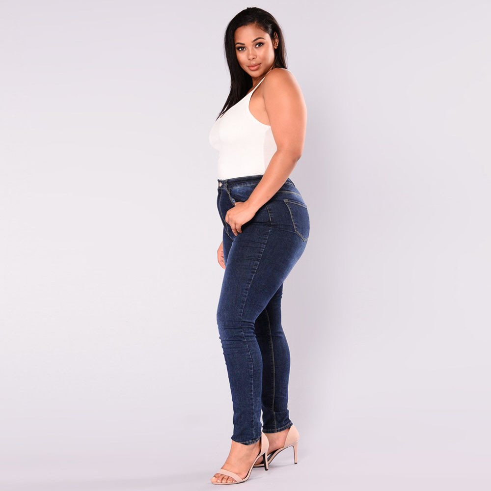 Women Clothes Plus Size 5XL Jeans Sexy Stretch Skinny Denim Trousers Fashion Casual Slim High Waist Pencil Jeans Mujer 2
