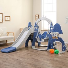 Sport-Toys Slide-Swing Basketball-Stand-Combination Plastic Indoor Playground Baby Kids