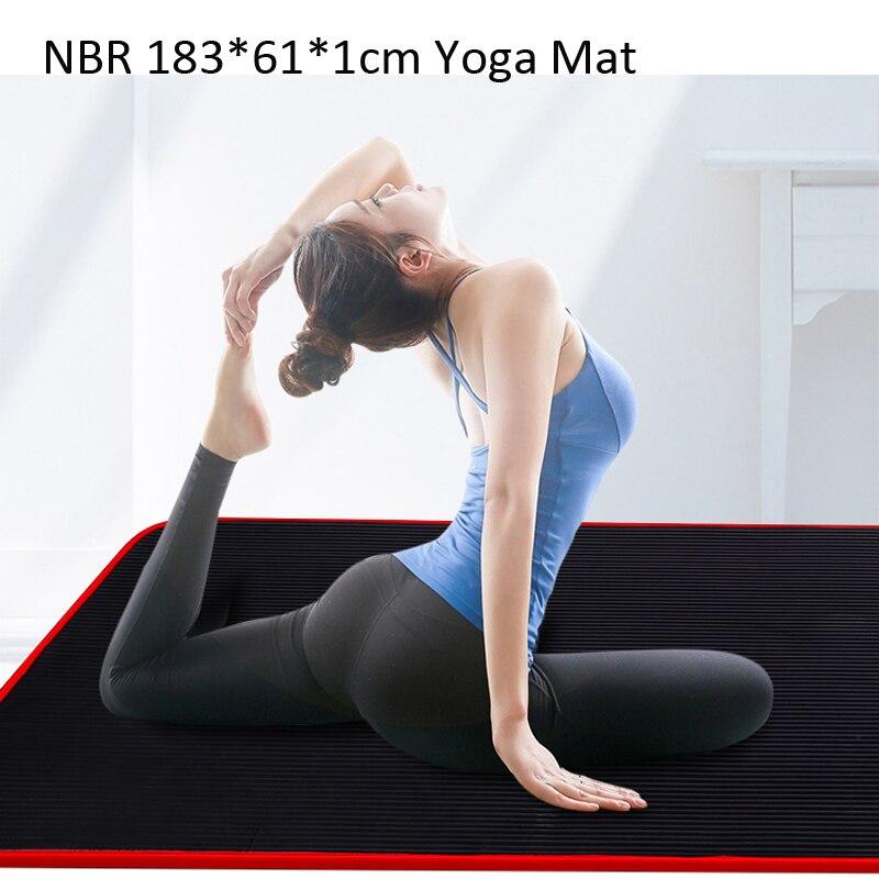 Exercise Sports Gym NBR Non-Slip Mats Fitness Sit-ups Body Shape Yoga Mat 10mm Thick Pilates Anti-Tearing Beginner Pads 7