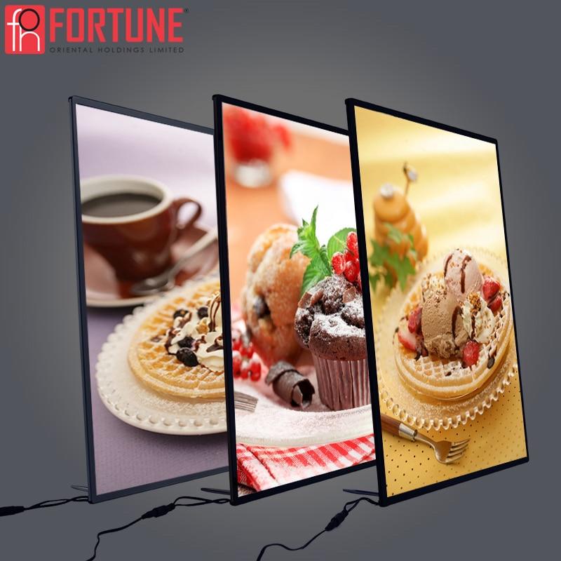 Advertising Poster Frame LED Illumination Light Box Billboard Restaurants Menu Led Panel Photo Frame Advertising LED Light Boxes
