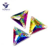 YANRUO 3270-üçgen kristal AB en Rhinestones dikmek cam kristal dikiş elbise Strass dikmek taşlar için giysi