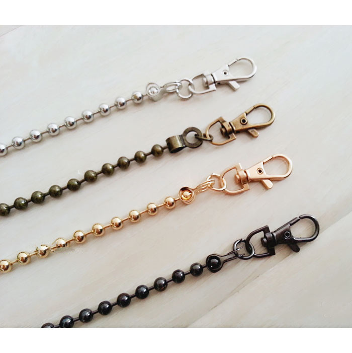 Round Shape Handbag Chains Purse Frame Need Chains Rope Strap Supply Accessory Bag Part Coin Purse Locker Pattern Metal Chains
