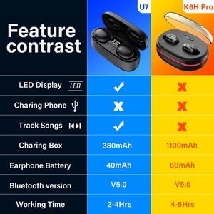 Image 5 - Dacom K6H Pro 무선 헤드폰 TWS 진정한 무선 이어 버드 이어 버드 전화 블루투스 이어폰 5.0 미니 헤드셋 PK i12 i10 tws