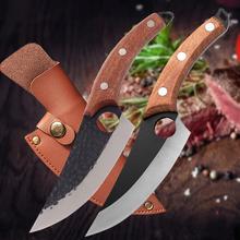 Stal nierdzewna 6 #8222 tasak do mięsa nóż myśliwski ręcznie kuty nóż do trybowania serbski nóż szefa kuchni nóż kuchenny Camping nóż do ryb tanie tanio CN (pochodzenie) STAINLESS STEEL Ekologiczne Noże Trybowanie noże