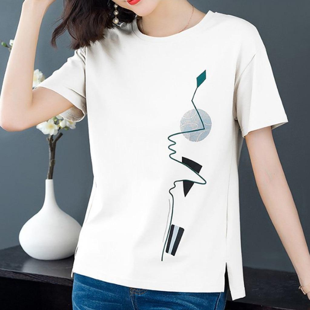 4# Short Sleeve Women's T-shirts Vintage Printed O-neck Punk Ladies T-shirt Tops T Shirt Women Women Clothing 2021 Футболка 5