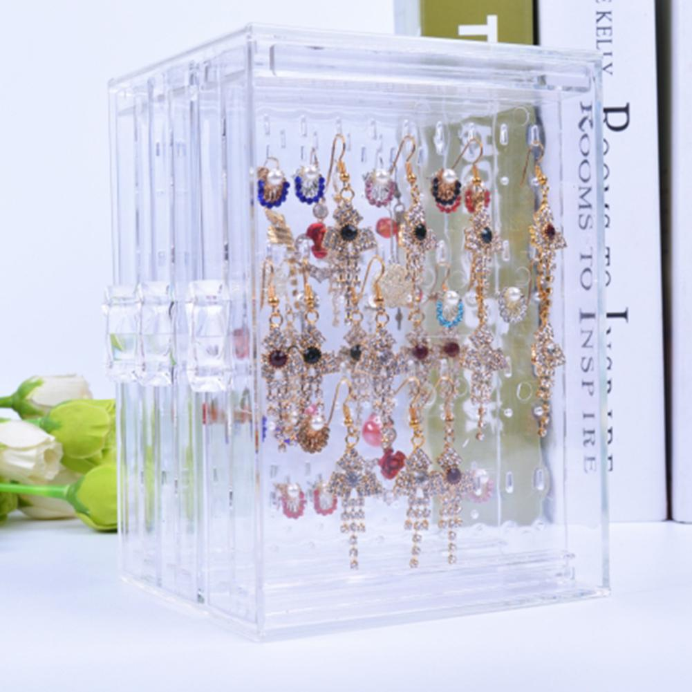 Transparent Acrylic Jewelry Display Rack Earrings Holder Jewelry Organizer Ear Stud  Stand Box Case