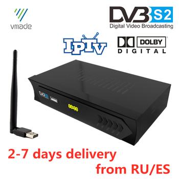 Gorący sprzedawanie Europen DVB-S2 satelitarny odbiornik TV wsparcie Dolby Youtube IKS IPTV Cccam Bisskey TV Turner dekoder z WIFI tanie i dobre opinie VMADE DIGITAL DVB S2 Dolby TV BOX CS8001S 32X16Mbit DDR2 Frequency1066 32M bytes 950MHz to 2150MHz - 10~ - 81dBm Single and multiple PLPS