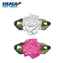 YAMA Foliage Tripetalous Carnation Flower Diameter 18mm±3mm Leaf 30mm±3mm 200pcs/bag Satin Ribbon Fashion Ornaments DIY Gifts