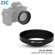 Jjc lente da câmera capa sombra para nikon nikkor z dx 16 50mm f/3.5 6.3 vr lente em nikon z50 nikon substitui HN 40 pode colocar 46mm filtro