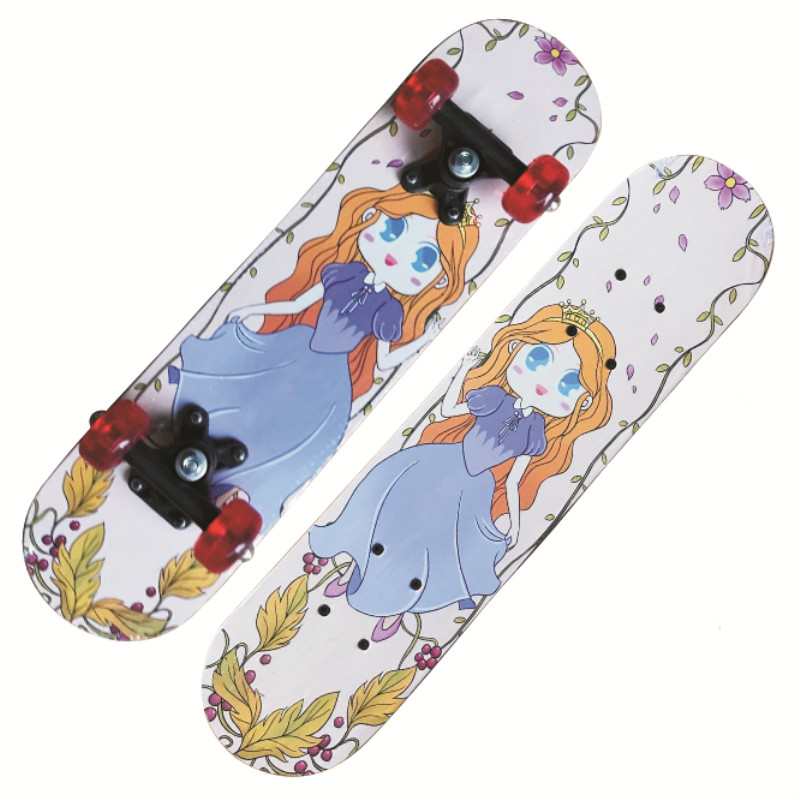 Kids Skateboard Car Four-wheel Double Rocker Outdoor Sports Wood Board Longboard Entertainment Scooter Deck Child Game 43*13cm