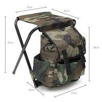 Dobrável ao ar livre Cadeira De Pesca Cadeira de Pesca Fezes Mochila Conveniente-resistente ao Desgaste