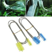 90/155/200 Cm Pijp Reinigingsborstel Rvs Water Filter Air Tube Flexibele Double Ended Slang Aquarium accessoires Nylon