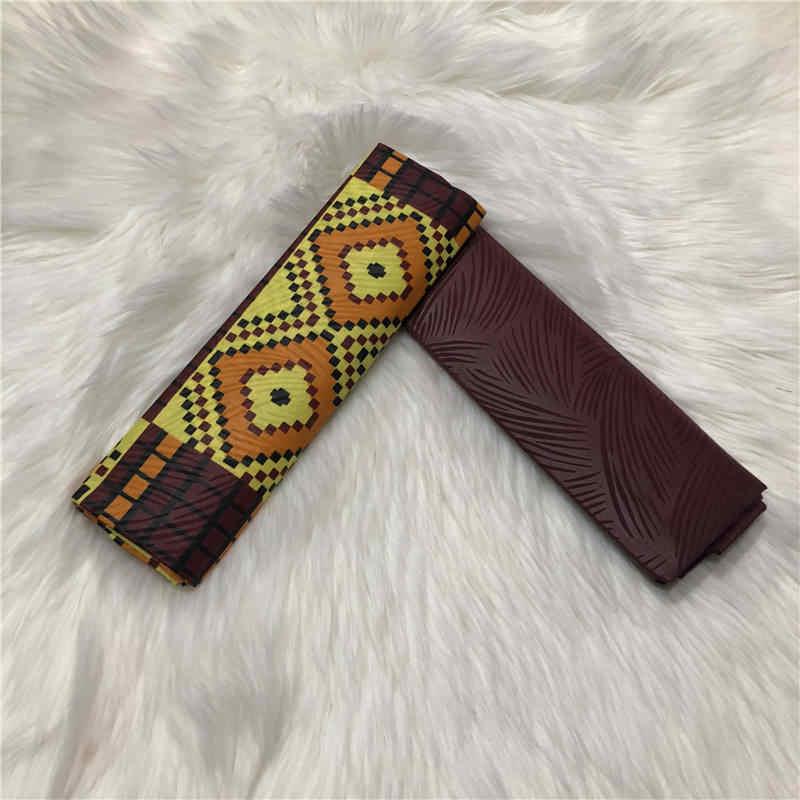 Ankara Stof Afrikaanse Echte Wax Prints Ghana Kente Stof 2 + 2Yards Veritable Wax Afrikaanse Stof Embossing Voor Lady aw