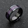 Neue Lila Drachen Ring Für Männer Hochzeit Edelstahl Carbon Fiber Schwarz Drachen Inlay Comfort Fit Band Ring Mode schmuck