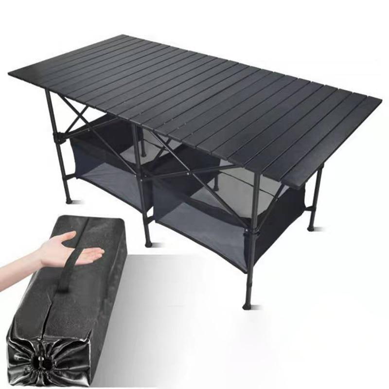 Новый открытый складной стол-стул Кемпинг алюминиевого сплава для барбекю на открытом воздухе Таблица Водонепроницаемый прочный складной ...