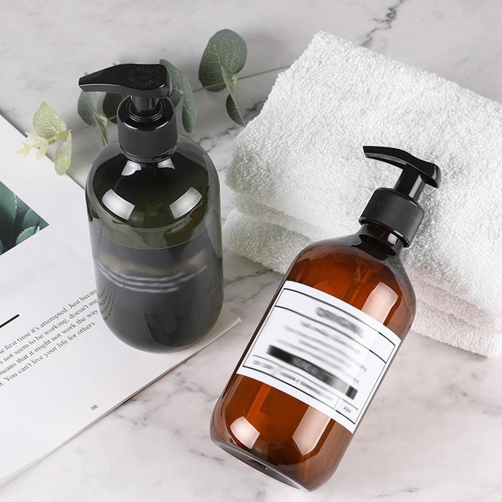 Shampoo Soap Lotion Makeup Liquid Dispenser Refillable Bottle 500ml