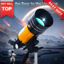 Powerful Astronomical Telescope 150 Times Zoom HD High-Power Portable Tripod Night Vision Deep Space Star View Moon Universe