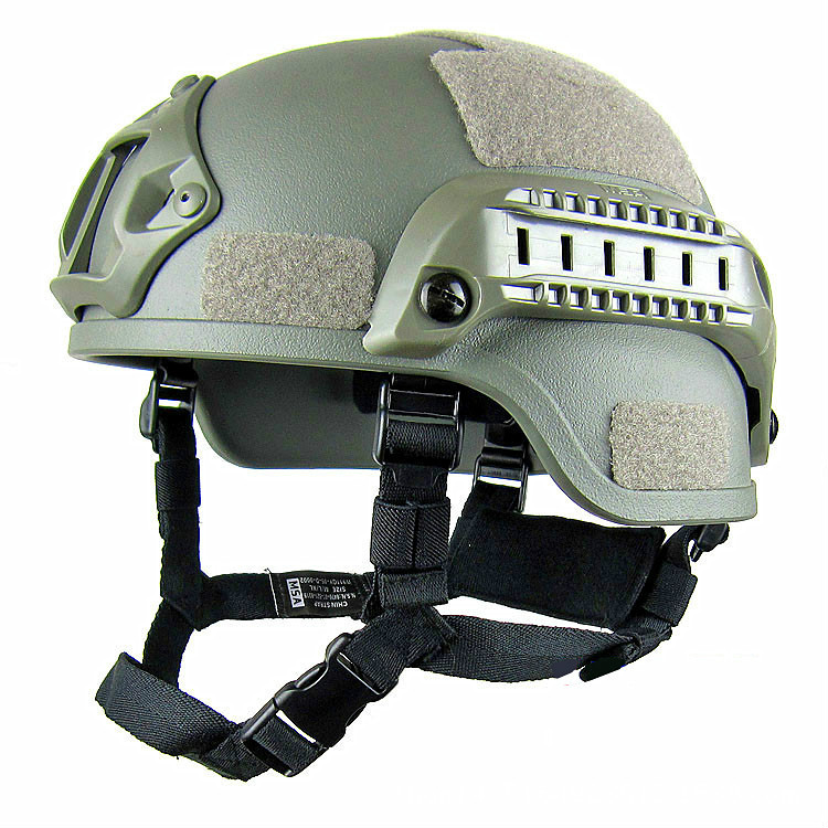 Tactical Fast Helmet,Adjustable ABS Helmet With Side Rails NVG Mount For Paintball Hunting Shooting Outdoor Sports Lightweight