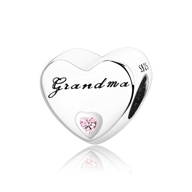 Фото классические бусины в форме сердца из серебра 925 пробы ажурные цена