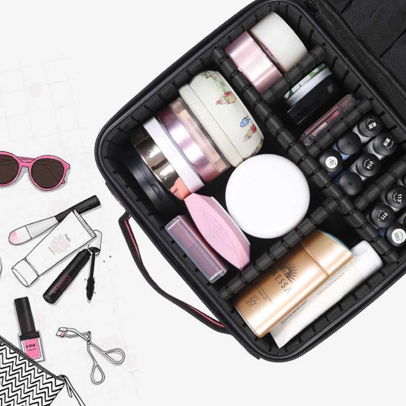 SNUGUG Frauen Marke Kosmetische Fall Multifunktions Reise Make-Up Tasche Organizer Bolso Muje Kosmetikerin Große Bilden Koffer Pouch