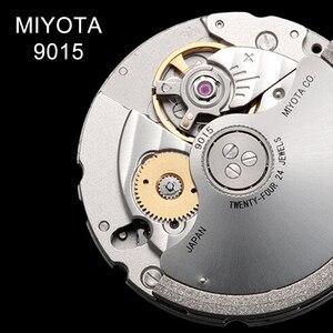 Image 2 - Часы мужские механические ультратонкие с автоподзаводом из натуральной кожи
