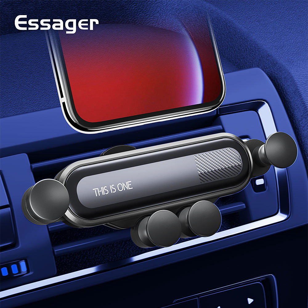 Essager Gravity Car Phone Holder For IPhone Xiaomi Mi Air Vent Car Mount Holder For Phone In Car Mobile Cell Phone Holder Stand