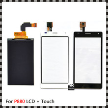 Nuovo di Alta Qualità 4.7 ''per LG Optimus 4X Hd P880 Display Lcd con Touch Screen Digitizer Sensore(China)