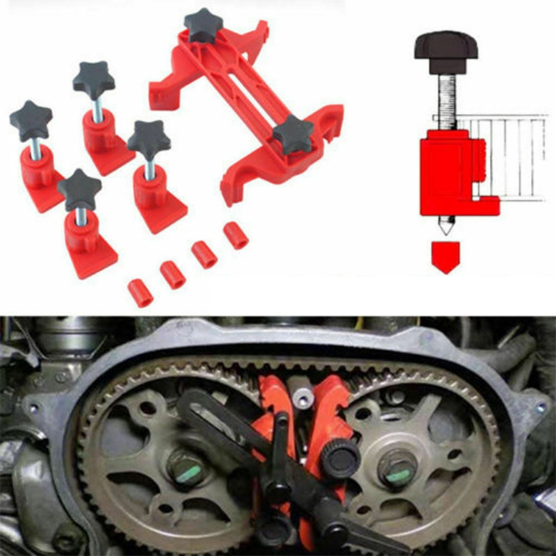 Universal Camshaft Dual Cam Clamp Locking Alignment Timing Belt Gear Tool Holder