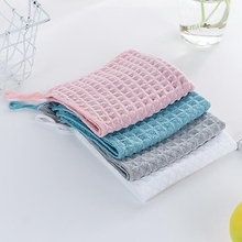 Newborn Baby Infant Plaid Face Hand Bathing Towel Baby Feeding Square Towels Handkerchief Infant Face Towel Wipe Cloth