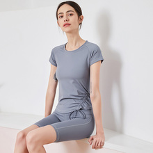 Yoga suit female fitness suit professional running high-end fashion fashion sexy temperament loose speed dry five-minute pants 15 minute fitness