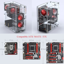 Computer-Case ITX Vertical-Desktop-Case ATX Customized Acrylic Full-Transparent DIY Support