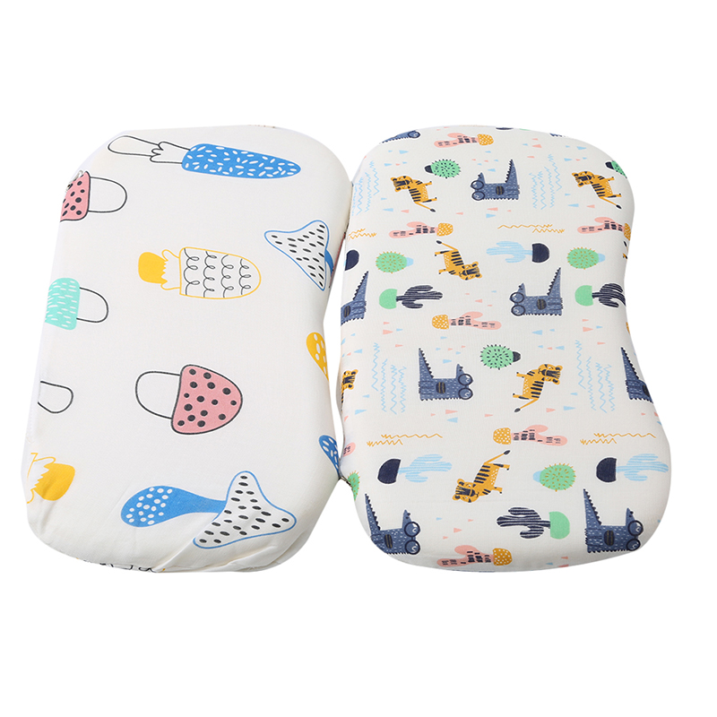 Rebound Soft Baby Pillow Cartoon Cute Anti-header Latex Memory Neck Shaping Pillow Kids Bedding Supplies Baby Care Accessories