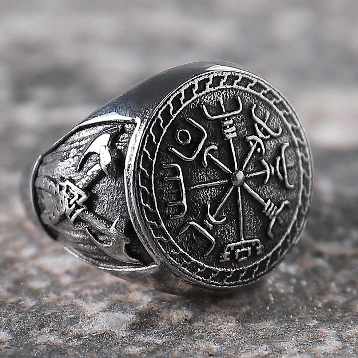 Мужское Винтажное кольцо-топор, ювелирное изделие из нержавеющей стали в стиле викингов, пиратов, мотоциклов, байкеров