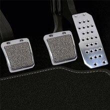Серебристый 3 шт./компл. автомобиля подставка для ног топлива педали тормоза для Honda Accord S2000 Civic RSX матовый педаль акселератора Тормозной Педали