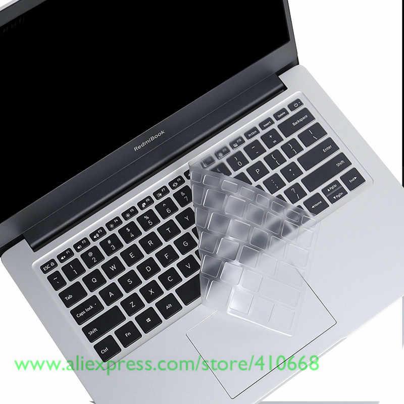 غطاء حماية للوحة مفاتيح الكمبيوتر المحمول من مادة البولي يوريثان الشفاف لحماية البشرة لهاتف شاومي RedmiBook من سلسلة 14 لعام 2019 دفتر ريدمي جديد مقاس 14 بوصة دفتر RedmiBook14